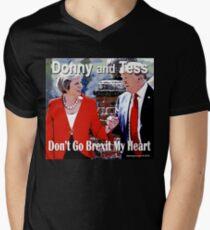 Don't Go Brexit My Heart Men's V-Neck T-Shirt