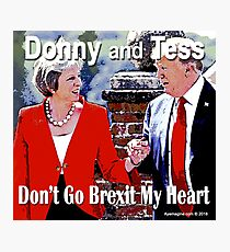 Don't Go Brexit My Heart Photographic Print