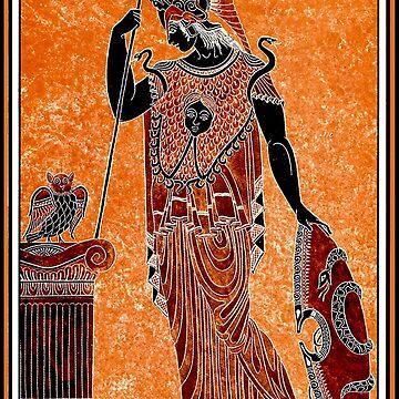 ATHENA : Vintage Greek Goddess of War Print by posterbobs