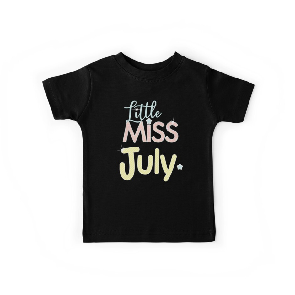 Little Miss July Sweet Birthday Gift Month Of Birth