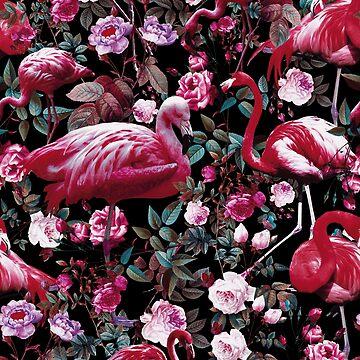 Floral and Flamingo VIII pattern by burcukyurek
