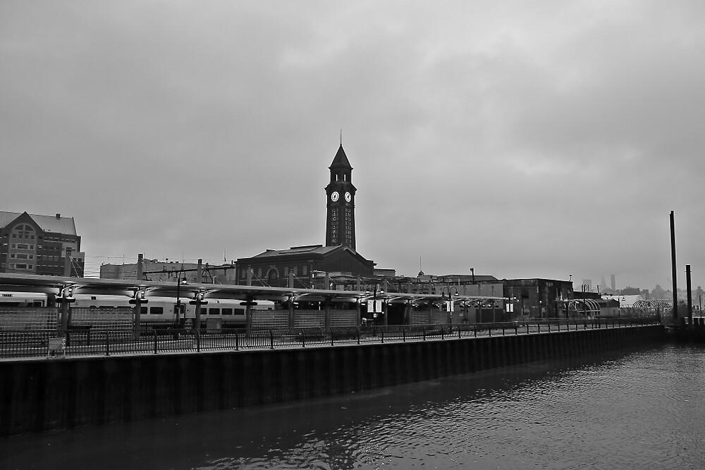 NJ Transit's Clock Tower Hoboken NJ by pmarella