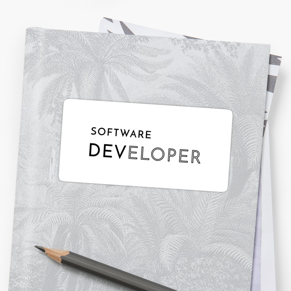 Software Developer (Inverted) Sticker
