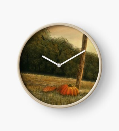 OCTOBER IN THE SOUTH, Acrylic Painting, for, prints and products Clock