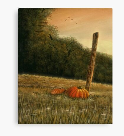 OCTOBER IN THE SOUTH, Acrylic Painting, for, prints and products Canvas Print