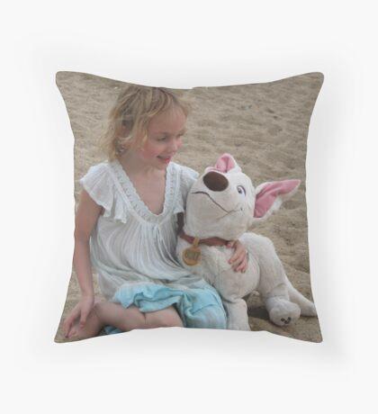 Kaara with her friend Bolt. Throw Pillow