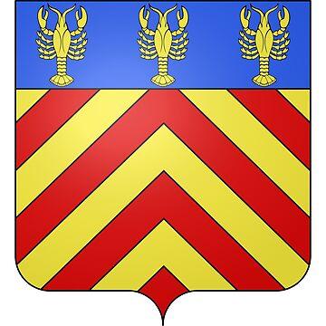 French France Coat of Arms 15469 Blason de la ville de Loué Sarthe by wetdryvac
