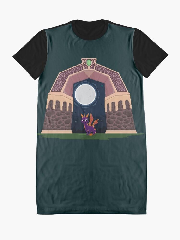 Alternative Ansicht von Spyro Welttor T-Shirt Kleid