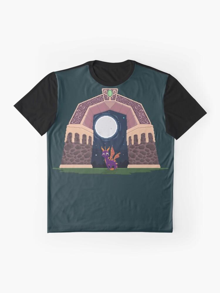 Alternative Ansicht von Spyro Welttor Grafik T-Shirt