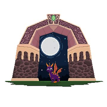 Spyro World Gate by Pixel-Bones