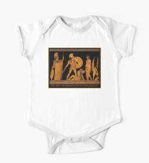 GREECE : Ancient God and Goddess Frieze Print One Piece - Short Sleeve