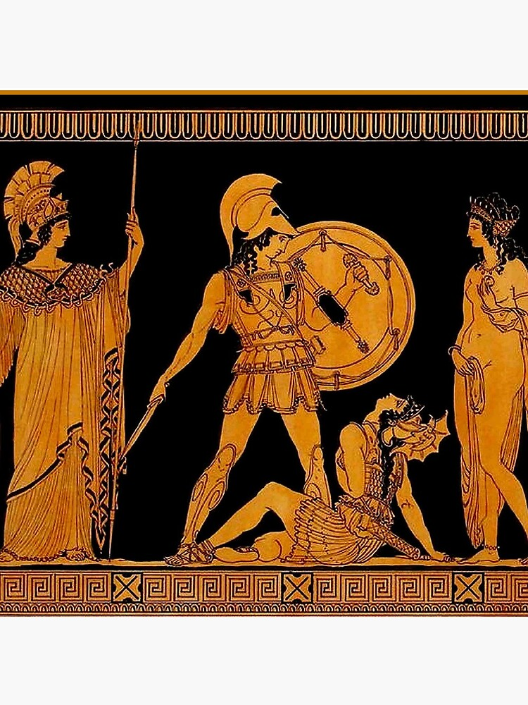 GREECE : Ancient God and Goddess Frieze Print by posterbobs