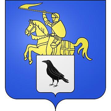 French France Coat of Arms 15470 Blason de la ville de Lubécourt Moselle by wetdryvac