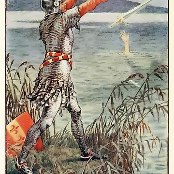 King Arthur's Knights - The Tale Retold for Boys and Girls by Sir Thomas Malory, Illustrated by Walter Crane 407 - Sir Bedever Casts the Sword Excalibur Into the Lake by wetdryvac