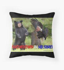 Showdown in Helsinki Throw Pillow