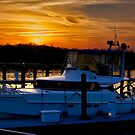 Docked for the Night by TJ Baccari Photography