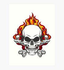 Skull in Flame Art Print