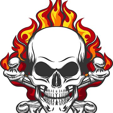 Skull in Flame by devaleta