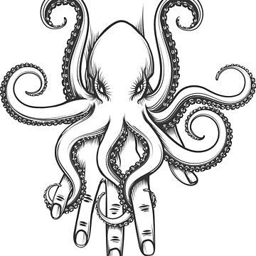 Octopus on a Hand by devaleta