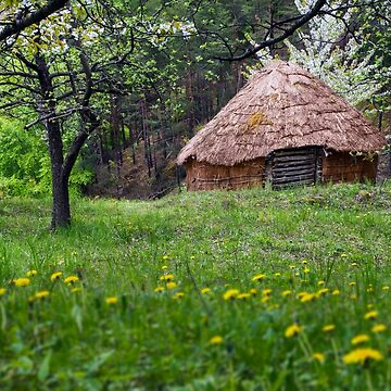 Spring landscape with straw bale house by ARGO