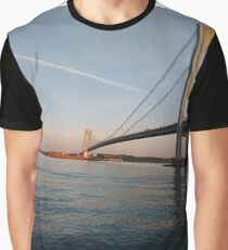 New York, New York City, Brooklyn, #NewYork, #NewYorkCity, #Brooklyn, Verrazano Narrows Bridge, #VerrazanoNarrowsBridge,  Graphic T-Shirt
