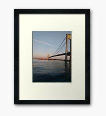 New York, New York City, Brooklyn, #NewYork, #NewYorkCity, #Brooklyn, Verrazano Narrows Bridge, #VerrazanoNarrowsBridge,  Framed Print