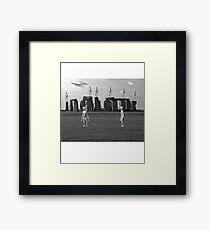 Stonehenge UFO Aliens Framed Print