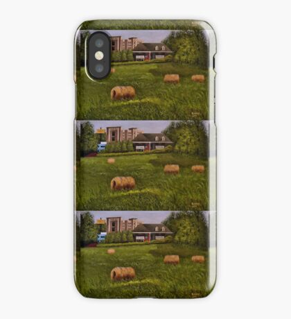 A LITTLE BIT OF COUNTRY, Acrylic Painting, for prints and products iPhone Case