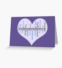 Independence Heart - Keeping it all together Greeting Card