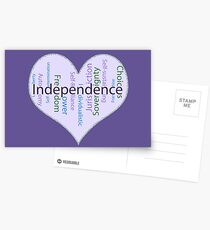Independence Heart - Keeping it all together Postcards