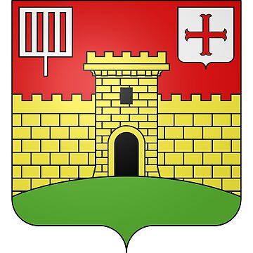 French France Coat of Arms 15476 Blason de la ville de Lumigny Nesles Ormeaux Seine et Marne by wetdryvac
