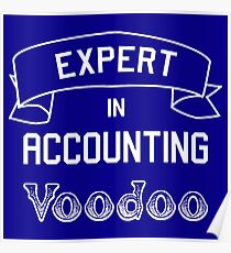 T-Shirt Expert in Accounting Voodoo - great gift Poster