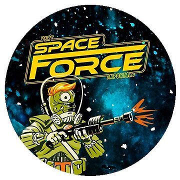 Funny President Trump Space-Force Alien Soldier Sticker by ThatBenWalker