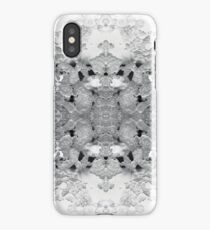 black and white ice symmetrical pattern iPhone Case