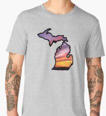 Michigan State Greats Lakes Sunset Design Men's Premium T-Shirt