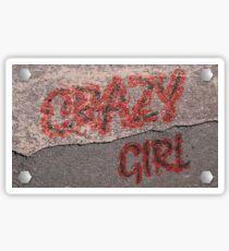 Streetwear Crazy Girl Sticker