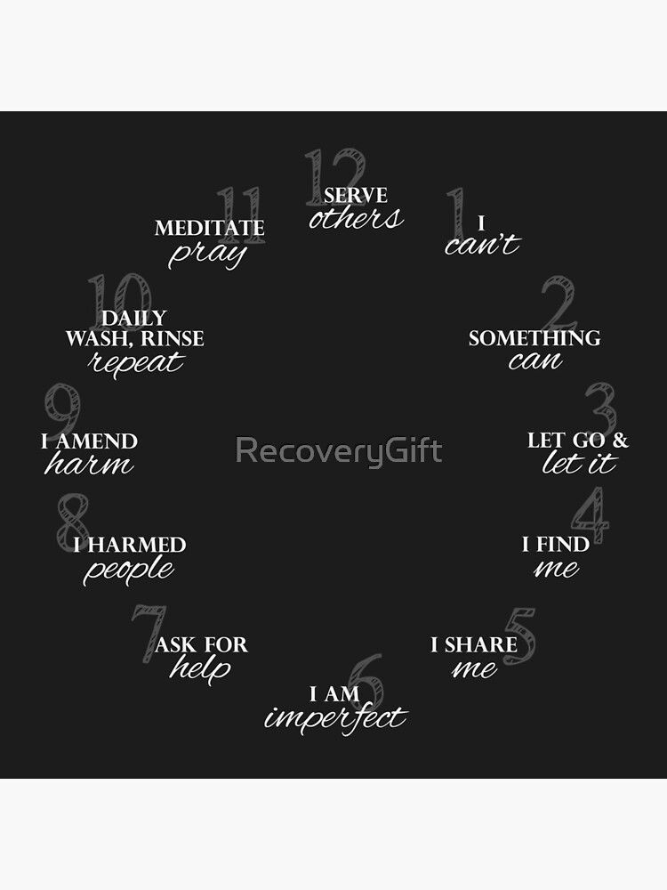 12 Steps of Recovery Clock by RecoveryGift