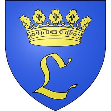 French France Coat of Arms 15480 Blason de la ville de Lutter by wetdryvac