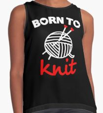 Born to knit with realy sweet graphic Contrast Tank