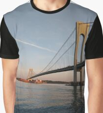 New York, New York City, Brooklyn, #NewYork, #NewYorkCity, #Brooklyn, Verrazano Narrows Bridge, #VerrazanoNarrowsBridge,  Graphic T-Shirt
