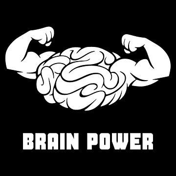 Brain Power (White) by realmatdesign
