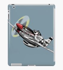WW-II Warbird P-51 Mustang Airplane Cartoon iPad Case/Skin