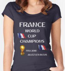 Allez Les Bleus - France World Cup Champions FIFA 2018 Women's Fitted Scoop T-Shirt