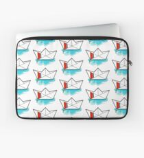 Watercolor Coast Guard Cutter Origami Laptop Sleeve