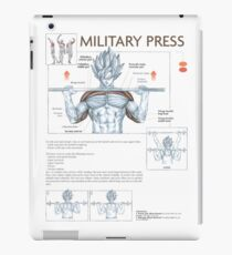 Exercise Diagram - Military Barbell Press iPad Case/Skin