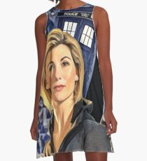 Space & Time lord First female doctor  A-Line Dress