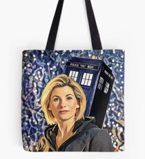 Space & Time lord First female doctor  Tote Bag