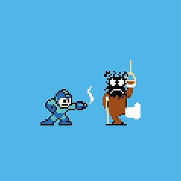 Pixel Crossover (Mega Man & Duck Hunt) by vladmartin
