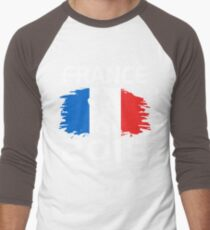 FRANCE 2018 T-Shirt Drapeau Français Équipe de Football Men's Baseball ¾ T-Shirt