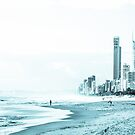 Gold Coast in blue mist by Kornrawiee